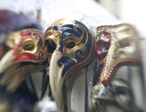 Masks. Of the Venice carneval,Italy Royalty Free Stock Photo