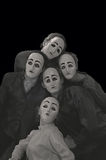 Masks. The actors of the youth theatre in masks Stock Photos