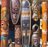 Masks. African Masks Colour Wooden Faces stock photos