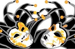 Masks. Black venice carnival masks - joker Stock Image