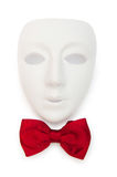 Masks and bow ties isolated. On the white Stock Photo