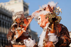 Masks on carnival, Piazza San Marco, Venice, Italy Stock Image
