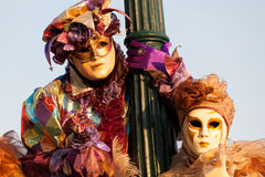 Masks on carnival, Piazza San Marco, Venice, Italy Royalty Free Stock Images