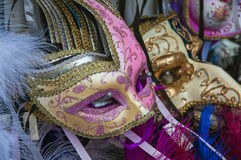 Masks of carnival in Venice,Italy Royalty Free Stock Image
