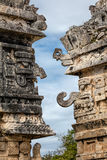 Masks of Chac, the Ancient Mayan god of rain and lightning Stock Images