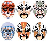 Masks of Characters in Peking Opera Royalty Free Stock Photography