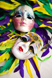 Masks. Colorful masks with feather - theme of Mardi Gras