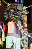 Masks and costume Phi Kon Nam or tradition of ghost carriage water Stock Photography