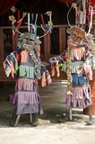 Masks and costume Phi Kon Nam or tradition of ghost carriage water Royalty Free Stock Image