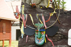 Masks and costume Phi Kon Nam or tradition of ghost carriage water Stock Photos