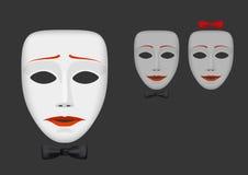 Masks and feelings stock illustration
