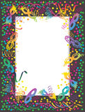 Masks frame. Colorful Carnival portrait frame with masks and confetti Stock Photography