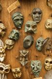 Masks hanging on wall. Stock Photography