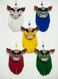 Masks of lion dance Stock Images