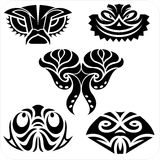 Masks in the North American style.  Vector set. Stock Photography