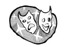 Masks opposites Stock Image
