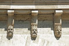 Masks, the Pont Neuf in detail (Paris France) Stock Images