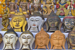 Masks, pottery,souvenirs Royalty Free Stock Photography