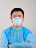 Masks and protective clothing Stock Photos