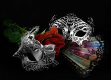 Masks with rose. Stock Photography