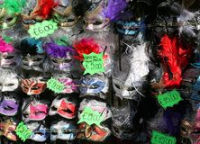 Masks for sale in a stand in St Mark square venice Stock Photos