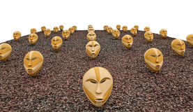 Masks on sawdust Royalty Free Stock Photography