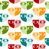 Masks seamless background pattern Stock Photos
