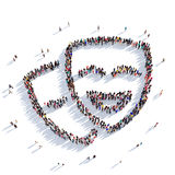 Masks show people 3D rendering Royalty Free Stock Photos