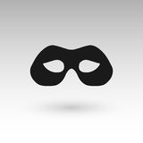 Masks silhouette in black.  Stock Images