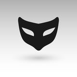 Masks silhouette in black.  Royalty Free Stock Photo