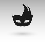 Masks silhouette in black.  Royalty Free Stock Image