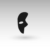 Masks silhouette in black.  Stock Photos