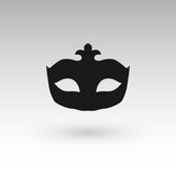 Masks silhouette in black.  Royalty Free Stock Photos