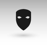 Masks silhouette in black  Stock Image