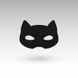 Masks silhouette in black.  Stock Image