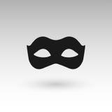 Masks silhouette in black. Illustration Stock Photo
