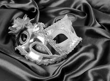 Masks on silk fabric Royalty Free Stock Image