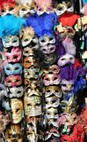 Masks in a stand in St Mark square in Venice Italy Stock Image
