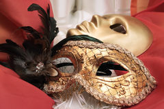 Masks on a textile Stock Image