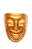 Masks with the theatre concept. On the white Stock Photography