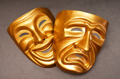 Masks with the theatre concept royalty free stock photos