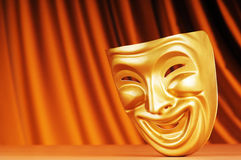 Masks with the theatre concept. On the background Stock Images