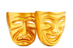 Masks - the theatre concept. Masks with the theatre concept Stock Photos