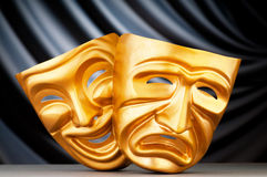 Masks - the theatre concept. Masks with the theatre concept royalty free stock image