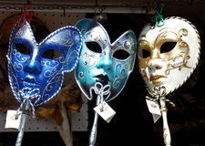 Masks to Rent. Masks exposed in a shop in Venice (Italy Stock Image