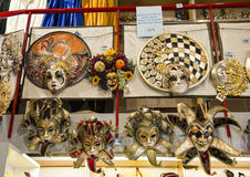 Masks traditionally worn during the Carnival of Venice Royalty Free Stock Photo