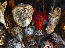 Masks. The uniqueness of venetian masks Stock Images