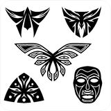 Masks - Vector set. Royalty Free Stock Photography