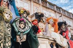 Masks, Venetian Carnival 2017. Masks at Venetian Carnival 2017 in Saint Mark square Royalty Free Stock Image