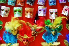Masks in Venice, Italy Royalty Free Stock Photo